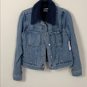 denim jacket with fleece collar